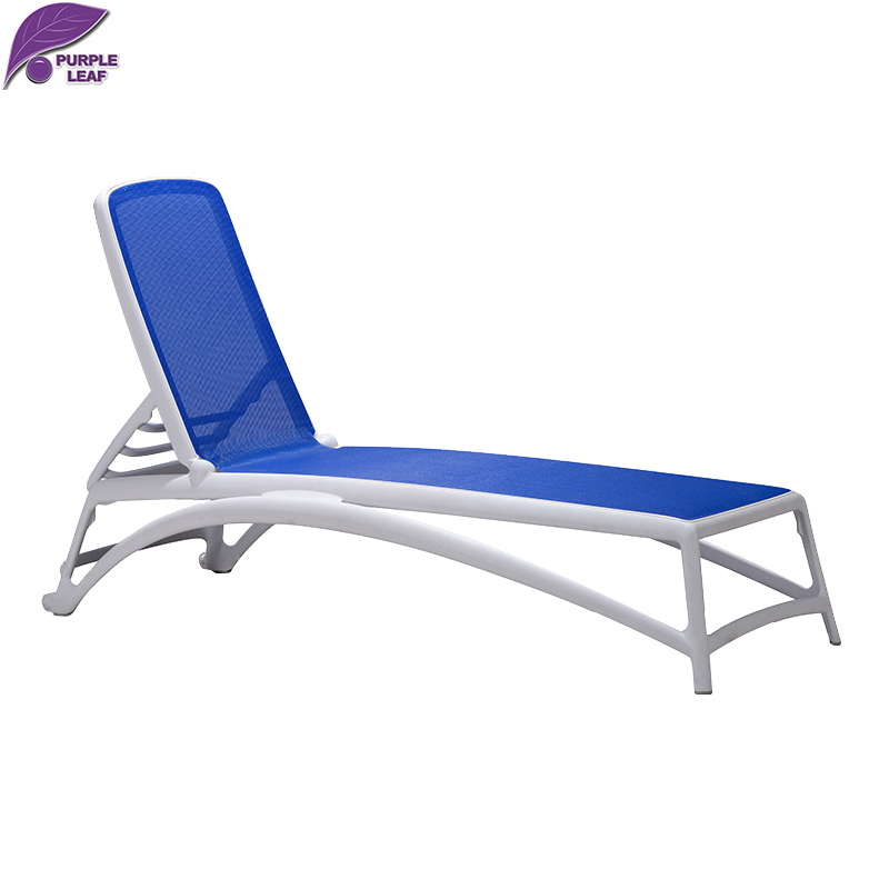 Purple leaf sun lounger beach folding chair portable for Chaise longue de plage pliante