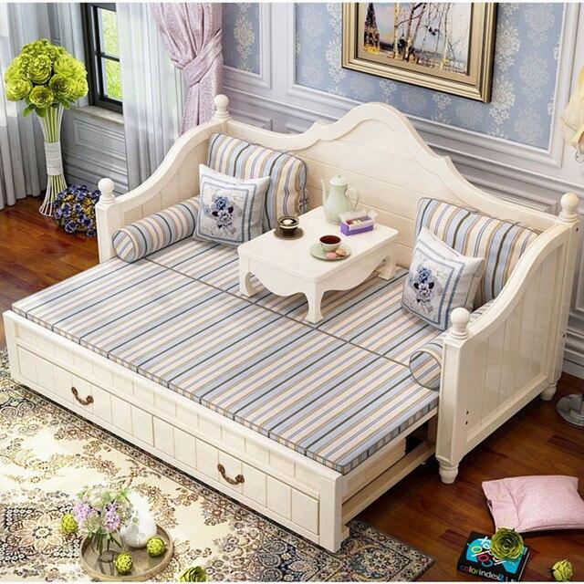 Sofá cama dobrável dual-use, multi-função dobrável sofá cama para pequena sala de estar apartamento