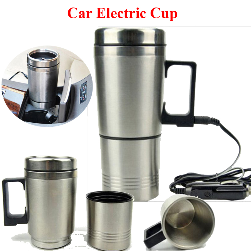 3 In1 300ml 12v 70w Stainless Steel Car Electric Cup Hot Water Tea
