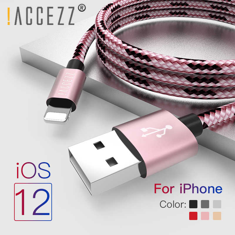 ! ACCEZZ kabel usb do transmisji danych oświetlenie kable do iphone'a X XS Max XR 8 7 6s Plus iPad MiNi 8Pin szybkie ładowanie telefonu komórkowego przewód ładowarki telefonu