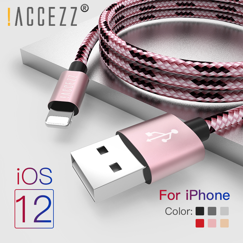 !ACCEZZ Data USB <font><b>Cable</b></font> Lighting <font><b>Cables</b></font> For <font><b>iPhone</b></font> X XS Max XR <font><b>8</b></font> 7 6s Plus iPad MiNi 8Pin Fast Charging Mobile Phone Charger Cord image