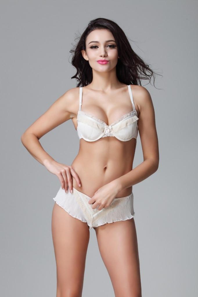 6f28ec10ef C D DD E F G Cups Plus Size Women Sexy Push Up Beige Color French Brand Sexy  Bra Sets Underwear soutien gorge UB1051-in Bras from Underwear   Sleepwears  on ...