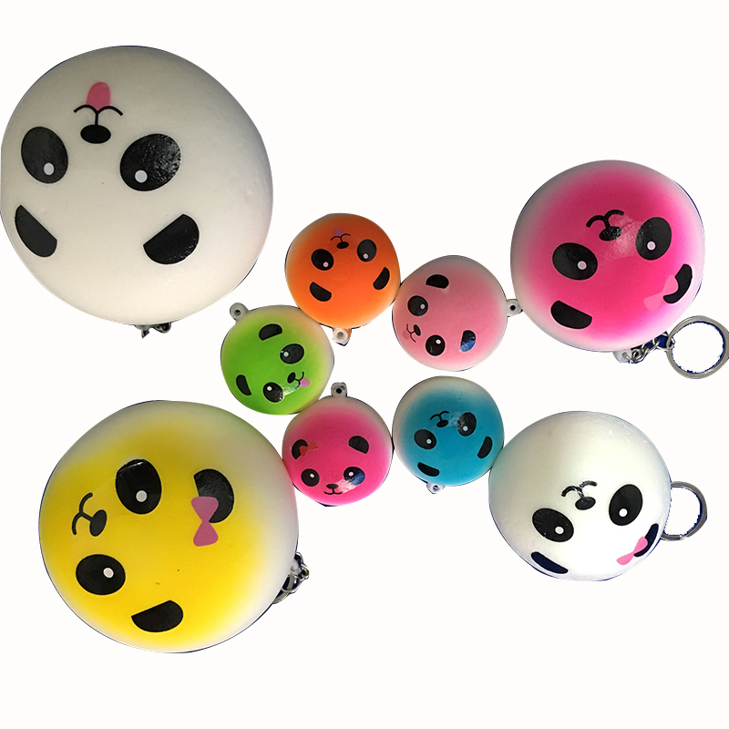 50pcs/lot squishy panda squishy kawaii Gags & Practical Jokes adult children Anti-stress Squeeze Relief Toys For Phone Straps