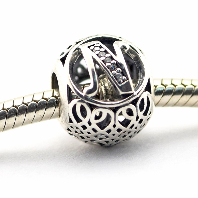 Pandora Jewelry For Sale: Pandora Jewelry Sale 925 Silver Charms Letter Z LE02-Z
