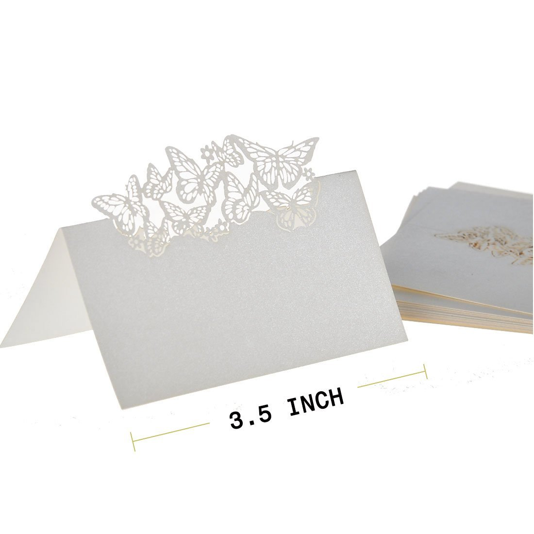 50 Butterflies Laser Cut Name Place Wedding Guest Table Wedding ...