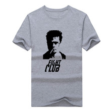 2017 Fight Club Mens I AM JACK BRAD PITT smoking T-Shirt 100% Cotton T shirt 1214-4