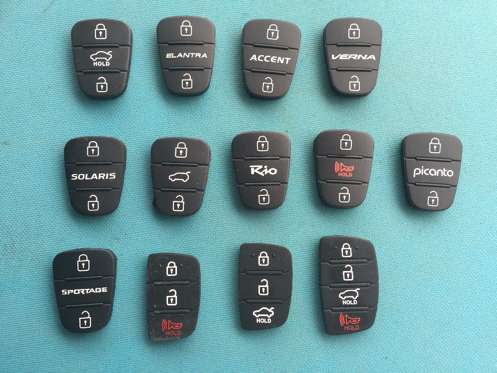 Aufstrebend Pusakieyy 1 Stück Gummi Taste Pad Für Hyundai Solaris Picanto 3 4 Tasten Flip Remote Key Shell Für Kia Rio Halten Blank Fall Abdeckung Wohltuend FüR Das Sperma