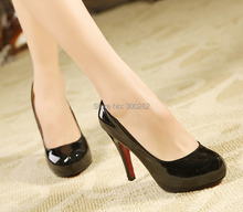 Plus:35-44 BRIDAL red bottom Patent leather Vogue pointed toe dancing 11cm  thin high heels dress pumps women sexy wedding shoes