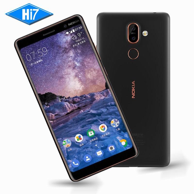 New Original Nokia 7 Plus 4g RAM 64g ROM Android 8 Snapdragon 660 Octa core 6.0 ''2160x1080 p 18:9 3800 mah Bluetooth 5.0 16.0MP