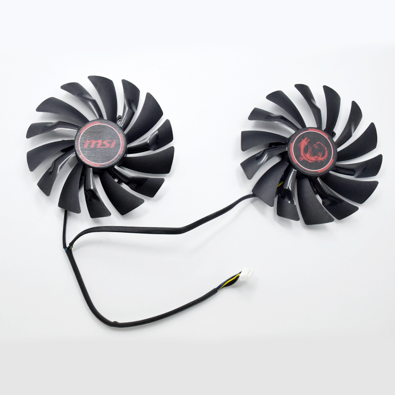 New 95MM PLD10010S12HH 4Pin Cooler Fan Replacement For MSI Radeon R9 380 Armor 2X GTX 1060 970 RX580 Graphics Video Card Cooling