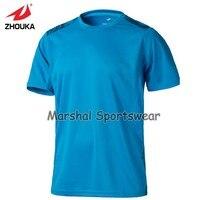 2016 hot sprzedaż soccer jersey, pusty jersey, w magazynie pozycji, 100% poliester, cena hurtowa, niebieski kolor, może na zamówienie dowolny kolor i rozmiar
