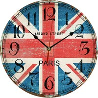 1 PC Vintage Wooden Wall Clock Modern Design Rustic Style Retro Oversized Large Decorative Kitchen Wall