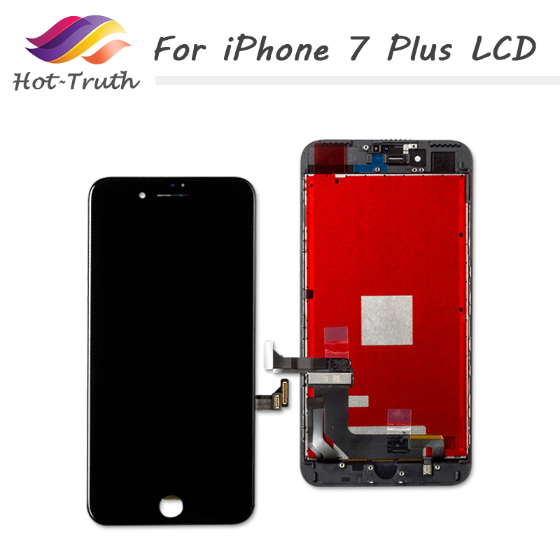 Hot-Truth 20PCS/LOT Grade AAA For iPhone 7 Plus Black and White LCD Display Touch Screen Digitizer Assembly Factory ON SALE