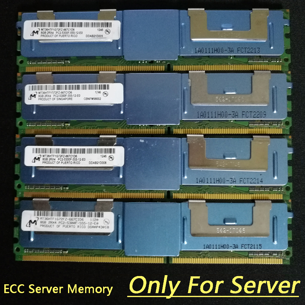 128GB 16x8GB PC2-5300F DDR2 Fully Buffered Server Memory RAM for Dell T7400