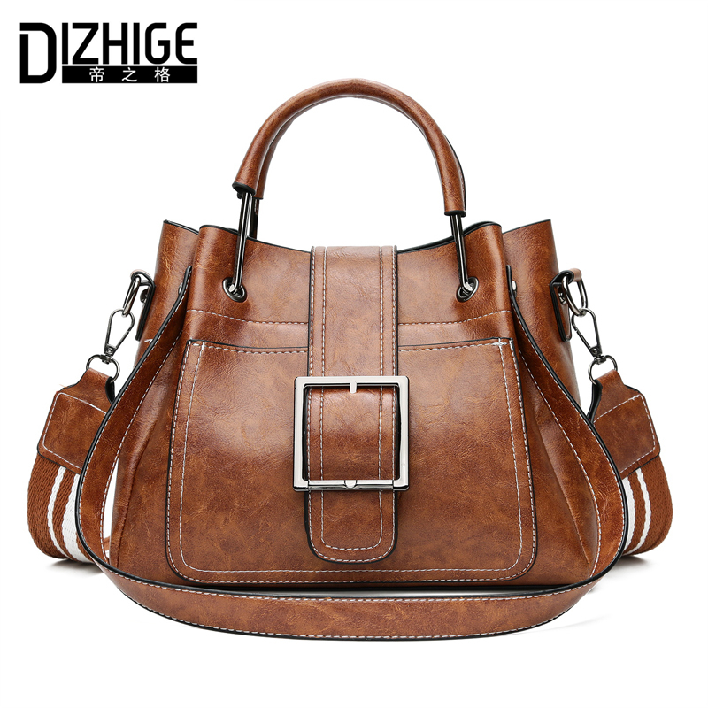 DIZHIGE Brand Three Strap Women Handbags Designer Shoulder Bag High Quality PU Leather Women Bags Ladies Hand Bag Tote Sac 2018
