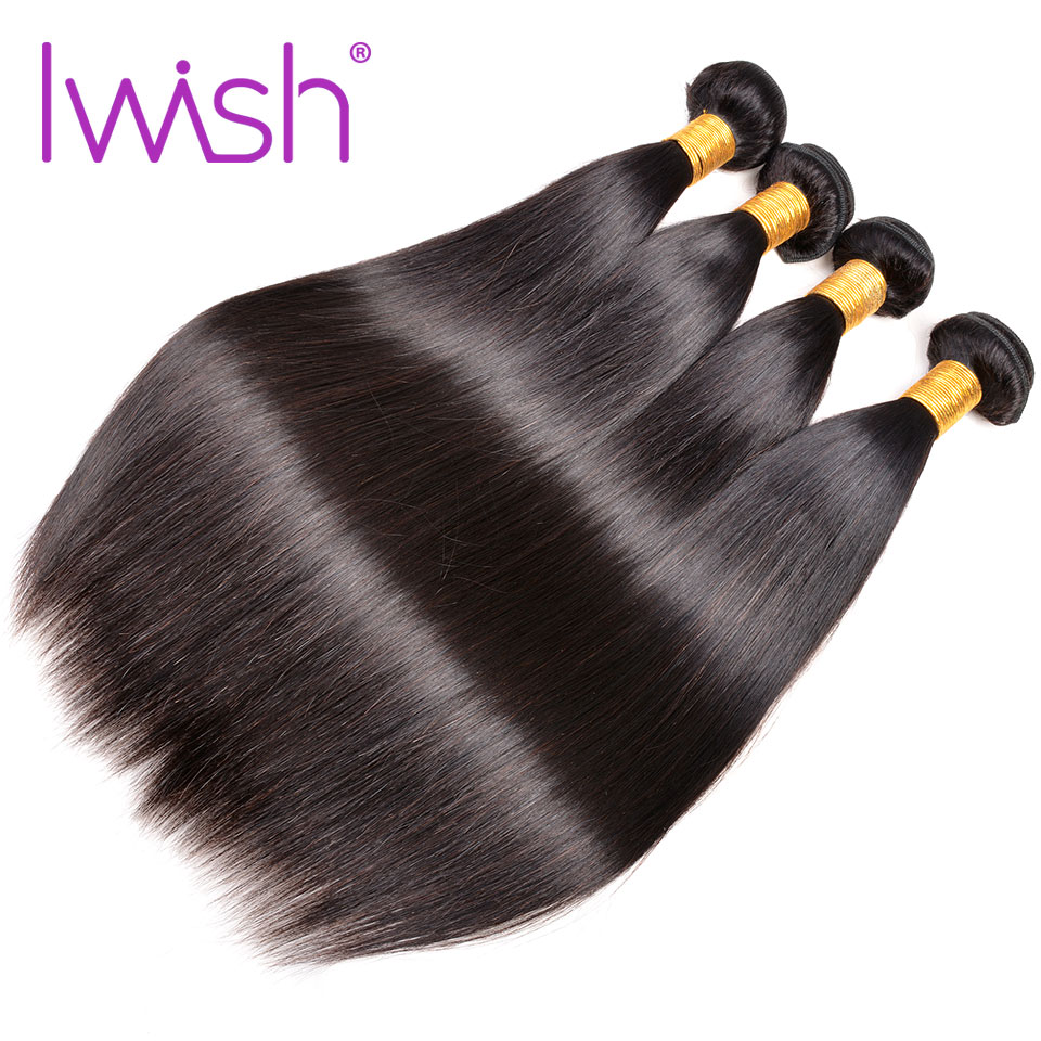 Peruvian Straight Hair Bundles 4 Bundle Deals Human Hair Weave Bundles 4PC Remy Hair Extension Can