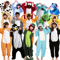 Unisex Adult Flannel Pajamas Animal Pyjama Suits Cosplay Adult Winter Garment Cute Cartoon Animal Onesies Pajama free shipping