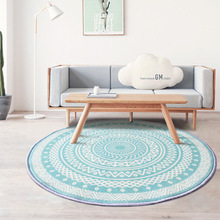 купить Nordic Gray Series Round Carpets For Living Room Computer Chair Area Rug Children Play Teal Floor Mat Cloakroom Rugs And Carpets дешево