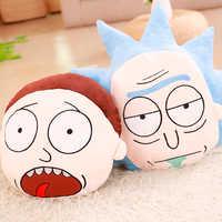 Großhandel Cartoon Rick und Morty feder kissen Niedlichen cartoon kissen Anime spielzeug baby kinder schlaf beschwichtigen puppe geburtstag/Weihnachten geschenk