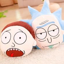 wholesale Cartoon Rick and Morty feather cushion Cute cartoon pillow Anime toy baby kids sleep appease doll birthday/Xmas gift недорого