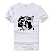 Sonic Youth T Shirt Rock Band Tee Men Women Cotton T Shirt Summer Top Clothing Short