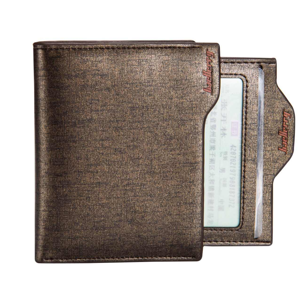 2017 New Arrival najwyższej jakości mężczyźni wielopasmowe skóry syntetycznej z mikrofibry na co dzień krzyż pionowe złoty niebieski krótki portfel portfel