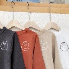 MILANCEL/ модные рубашки для мальчиков; базовые футболки; детская блузка; детская рубашка для девочек; Детские повседневные топы