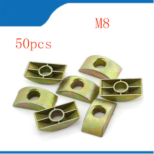 Luggage & Bags Abdb Furniture Connector Half Moon Nuts Spacer Washer Bronze Tone 20pcs
