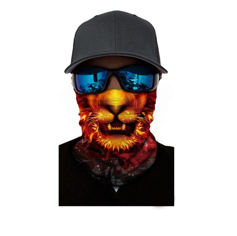 1pcs Lion Ski Cycling Snowboard Scarf Neck Warmer Face Mask Balaclava Bandana Bike Mask Free Shipping Animal Bicycle Mask 2019 in Cycling Face Mask from Sports Entertainment