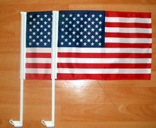 free shipping NEW 30x45cm  American car flag window bearer standard-bearer waving flags