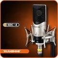 MK-4 TRanshine microfone de karaokê 3 m cabo capacitor microfone cantando microfones de gravação de Baixo nível de ruído de alta sensibilidade
