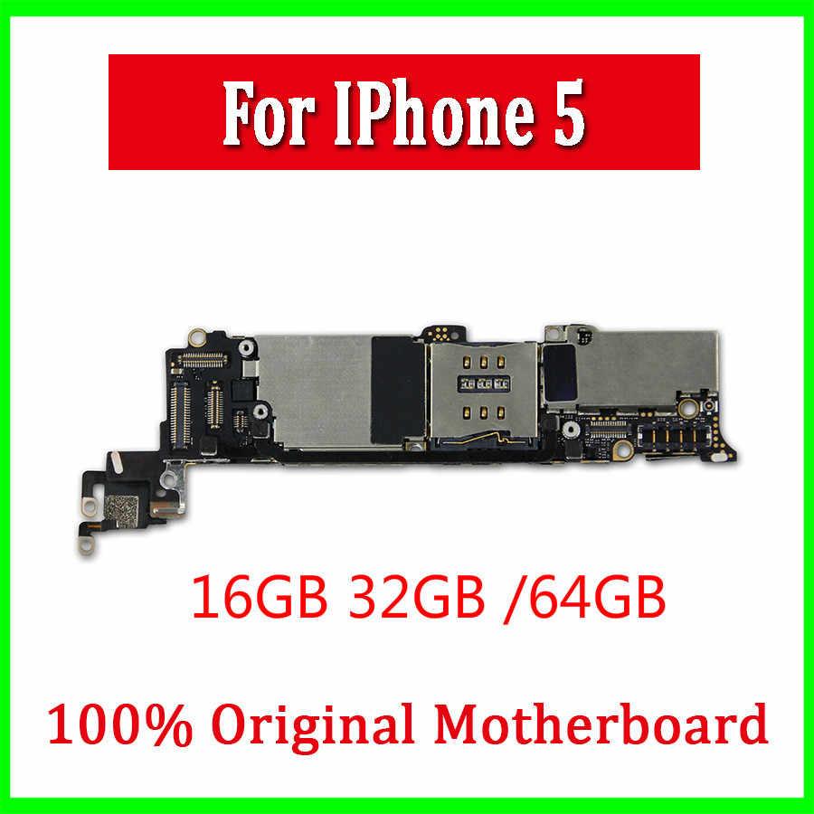Оригинал для iphone 5 материнская плата фабрика разблокирована для iphone 5 материнская плата, логическая плата с системой IOS с чипами 16 ГБ 32 ГБ 64 ГБ