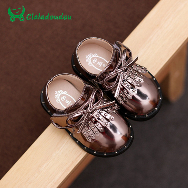 Baby Shoes Girls Boys First Walker Red Pure PU Leather Rivet Fringe Rubber Boots Toddler Newborn Baby Sneakers Insole11.8-13.8CM