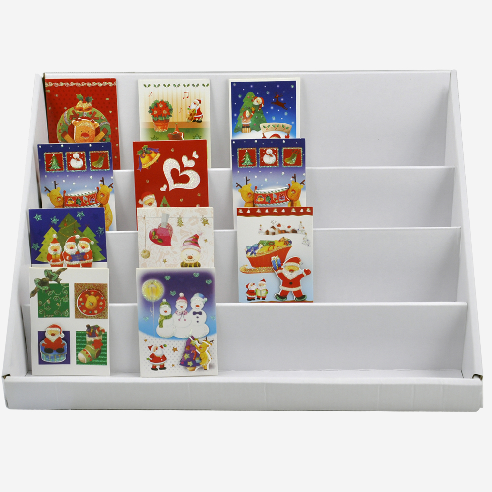 Book Display Stand Us 14 99 Soobuy Lightweight Collapsible Compact Greeting Card Display Stand Book Dvd Magazine Counter Display 4 Tiers X 2 In Jewelry Packaging