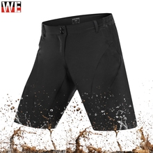 WOSAWE Mens Motorcycles Shorts Downhill Black Road MTB Mountain Bike Breathable Loose Fit Riding Sports Running