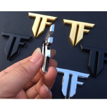 3D TF auto car emblem chrome sticker decal badge Transformers metal new sport racing drift motor sport street racing car-styling metal 3d v6 engine displacement car grill sticker badge v8 emblem stickers auto decal chrome car styling for toyato audi bmw vw