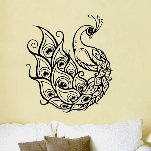 Charming ZOOYOO Peacock Wall Decal Sticker Art Decor Bedroom Design Mural Vinyl  Birds Animals Home Decor Living