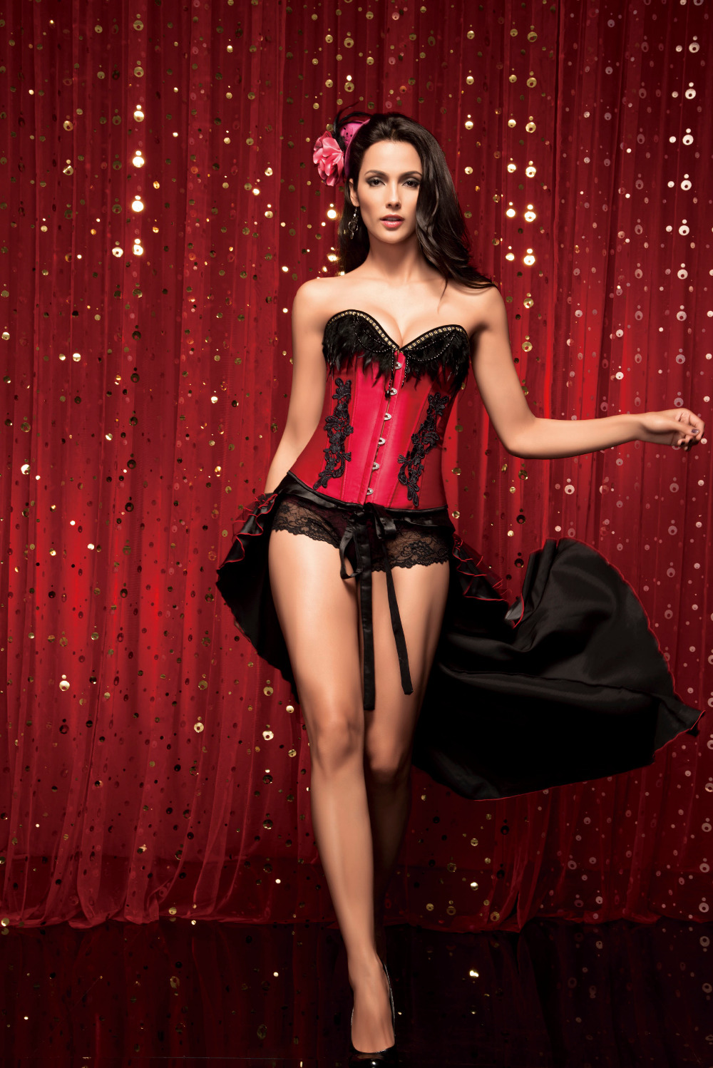 2014 newest sexy lingerie corset embroidered satin bridal corset tight red thong purple skirt. Black Bedroom Furniture Sets. Home Design Ideas