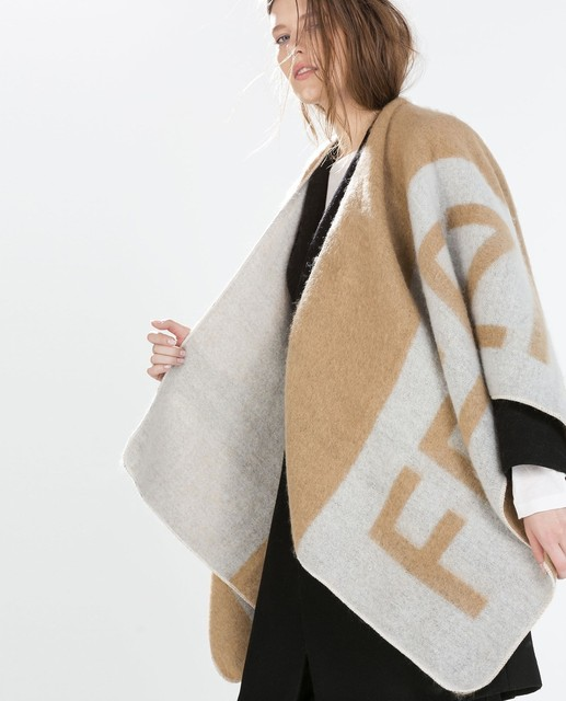 Brand Women Poncho Prorsum Cashmere Wool Scarf Monogramed Poncho Prorsum Cape Colour Block Check Blanket Poncho bufanda manta