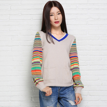 adohon 2016 womens winter Cashmere sweaters and auntmun women knitted Pullovers High Quality Warm Female thickening Patchwork