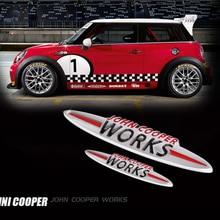 JCW 3D декоративная наклейка Модификация аксессуары для BMW MINI Cooper S John Cooper Works R50 R52 R53 R55 R56 R60 F54 F56 F60