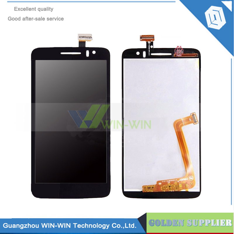ФОТО 5pcs/lot LCD with Touch Screen Digitizer Assembly for Alcatel One Touch Idol Scribe HD OT8008 8008 8008D free shipping