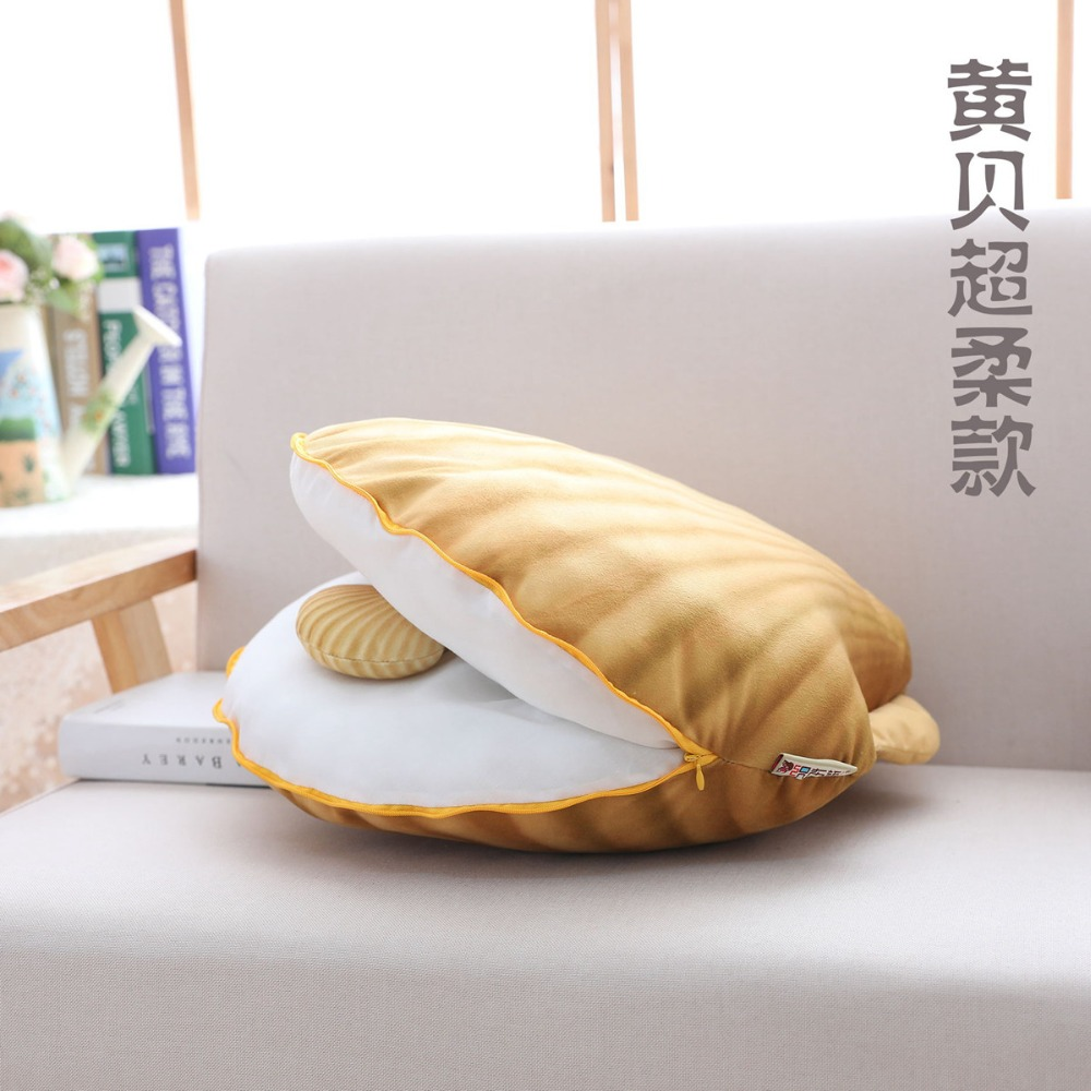 2018 Colorful Shell Plush Pillow & Stuffed Comfortable Toy Sofa Bed Decoration Kawaii Pillow Mother And Son Shell Pillow