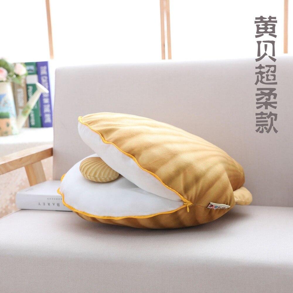 2018 colorido shell pillow plush stuffed brinquedo confortavel sofa cama decoracao kawaii travesseiro mae e filho