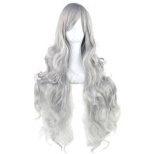 Soowee 20 Colors 80cm Long Curly Women Heat Resistant Synthetic Hair Blonde Gray Party Cosplay Wigs