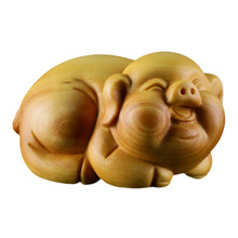 Boxwood carvings  animals  piglets  handlebars  carving  craft  gifts  home accessories woodcut   tea and pigs