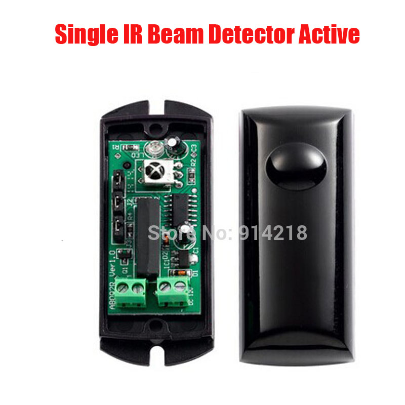 ABO-10F Active Infrared Beam Sensor Frequency Adjust Photoelectric Single IR Beam Detector Active Infrared Intrusion  Sensor infrared light beam photoelectric sensor module