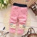 BibiCola новый год осенью новый хлопок Мультфильм симпатичные pattern мультфильм cat детские брюки новорожденных девочек леггинсы детские шаровары