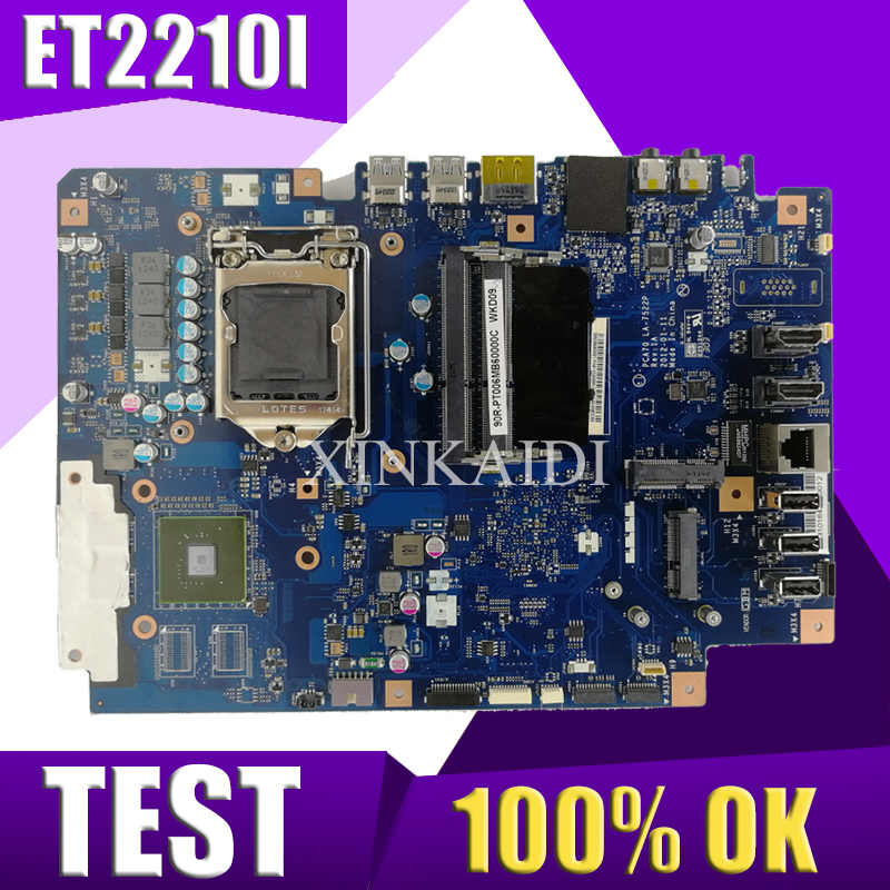XinKaidi  Original All-in-one motherboard For ASUS ET2210I ET2210 LA-7522P mainboard 100% Test ok Works GMXinKaidi  Original All-in-one motherboard For ASUS ET2210I ET2210 LA-7522P mainboard 100% Test ok Works GM