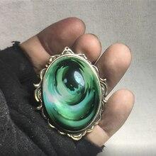 Ручной работы аниме фиолетовый Evergarden Cospaly аксессуары ожерелье кулон зеленый бриллиант аксессуары ювелирные изделия для женщин девочек